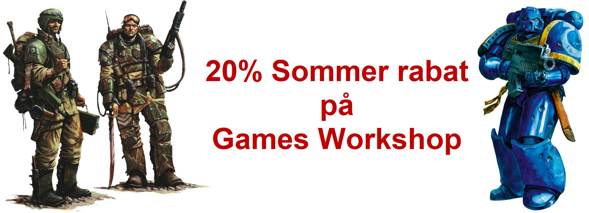 20% Sommer rabat på GamesWorkshop