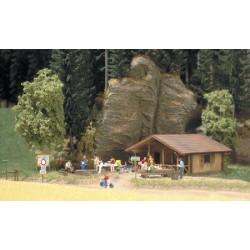 Busch 1035 Blockhütte H0