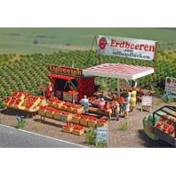 Busch 1073 Erdbeer-Verkauf H0